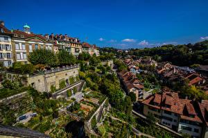 Fotos Schweiz Bern Haus Himmel Städte