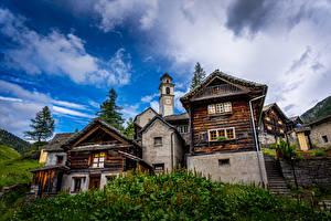 Hintergrundbilder Schweiz Gebäude Stiege Straßenlaterne Bosco Gurin