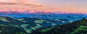 Images Switzerland Mountains Scenery Alps Oberland, panorama Nature