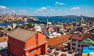 Bakgrundsbilder på skrivbordet Turkiet Istanbul Hus Moské