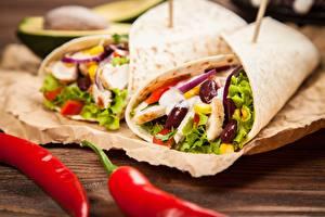 Fotos Gemüse Fast food tortilla