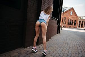 Pictures Legs Shorts Ass buttocks Pose Yura Warner, Olga Serbina young woman