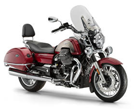 Wallpapers White background Dark red 2012-21 Moto Guzzi California 1400 Touring SE