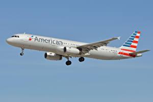 Fotos Airbus Flugzeuge Verkehrsflugzeug Flug A321, American Airlines
