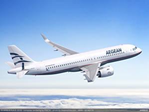 Fotos Airbus Flugzeuge Verkehrsflugzeug Flug SX-NEA Aegean Airlines, A320neo
