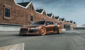 Wallpaper Audi R8 SKID MRQ Cars