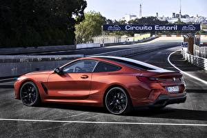 Desktop wallpapers BMW Side Coupe 2018 8-Series M850i xDrive 8er G15 automobile