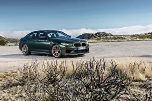 Wallpapers BMW Green Metallic M5 CS, Worldwide, (F90), 2021 Cars