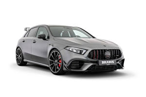 Image Brabus Grey Metallic White background B45 (W177), 2021 Cars
