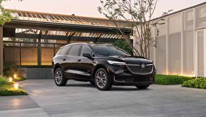 Sfondi desktop Buick Nero Metallizzato CUV Enclave Avenir, 2021 automobile