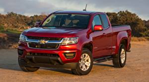 Image Chevrolet Pickup Red Colorado, LT Extended Cab, 2014 Cars