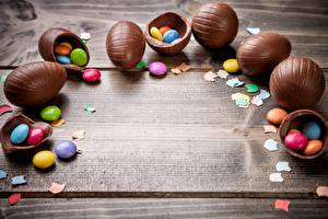 Pictures Chocolate Easter Dragee Egg Template greeting card Food
