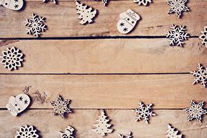 Bureaubladachtergronden Kerstmis Planken Wenskaart Sjabloon Kerstboom