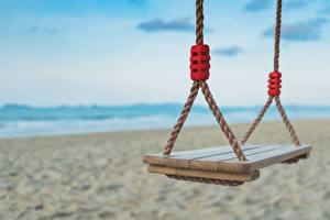 Image Closeup Swing Bokeh Beach