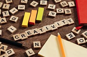 Bakgrundsbilder på skrivbordet Skrivet ord Engelsk Blyertspennor Creativity