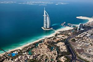 Photo Dubai Emirates UAE Coast Sea Hotel From above Jumeirah Al Naseem Cities