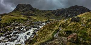 Photo England Mountain Stones Rivers Lake District