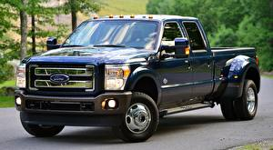 Hintergrundbilder Ford Pick-up F-350, Super Duty King Ranch Crew Cab, 2015