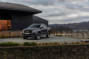 Desktop hintergrundbilder Ford Pick-up Schwarz Metallisch Ranger MS-RT Double Cab, UK-spec, 2021 Autos