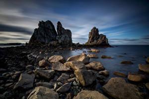 Hintergrundbilder Frankreich Küste Stein Felsen Bretagne