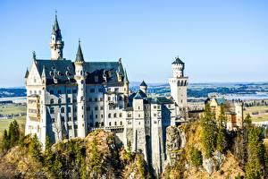 Bilder Deutschland Burg Schloss Neuschwanstein Bayern