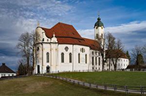 Bilder Deutschland Kirche Bayern Wildsteig, Wieskirche Städte