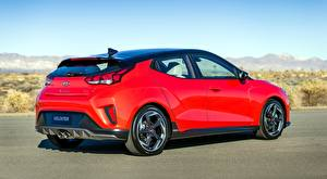 Papel de Parede Desktop Hyundai Vermelho Veloster, Turbo. US-spec. 2018 automóveis