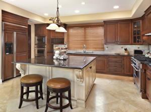 Desktop hintergrundbilder Innenarchitektur Küche Design Tisch Lampe