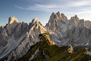 Fotos Italien Berg Felsen Alpen Dolomites