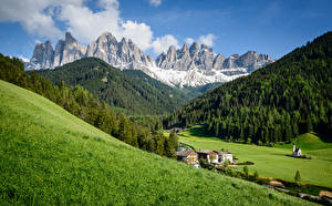 Images Italy Mountains Meadow Alps Dolomites Nature