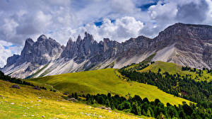 Pictures Italy Mountains Alps Clouds Trentino-Alto Adige, Dolomites Nature