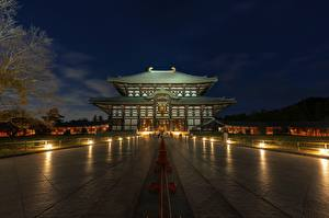Pictures Japan Temples Night Todai-JI, Nara