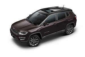 Photo Jeep CUV Metallic White background Compass S Latam (MP), 2019 automobile