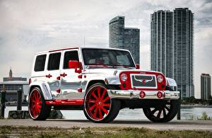 Photo Jeep Tuning Silver color Wrangler