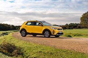 Hintergrundbilder KIA Crossover Gelb Metallisch Seitlich Stonic, UK-spec, (YB), 2021 automobil