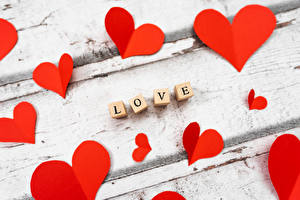 Bakgrundsbilder på skrivbordet Kärlek Alla hjärtans dag Text Hjärta Engelska