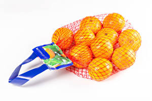 Desktop wallpapers Mandarine White background Food