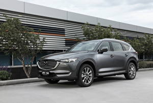 Wallpapers Mazda Gray Crossover 2018-20 CX-8