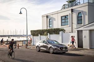 Fondos de escritorio Mazda Gris Metálico 2019 Mazda 3 Sedan Coches imágenes