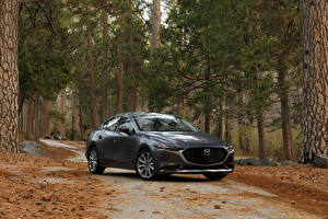 Wallpapers Mazda Grey Metallic 2020 Mazda3 Sedan
