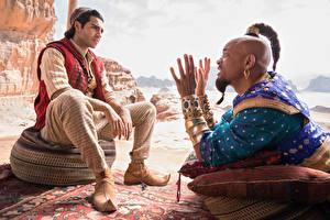 Fonds d'écran Homme Will Smith Joaillerie Assis Main Nègre Aladdin (2019, Mena Massoud Cinéma Célébrités