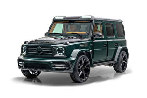 Wallpapers Mercedes-Benz Tuning G-Wagen White background Mansory Gronos (Br.463), 2021