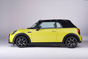 Wallpapers Mini Convertible Lime color Metallic Side Cooper S Cabrio, Worldwide, (F57), 2021