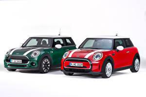 桌面壁纸,,迷你,2 兩,红色,綠色,白色背景,Hatch (F56), 2014,汽车