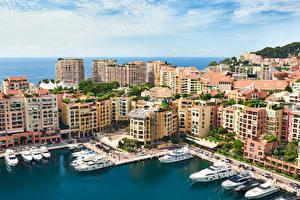 Bilder Monaco Meer Gebäude Yacht