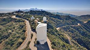 Desktop wallpapers Mountains Roads USA San Diego, Palomar Observatory Nature