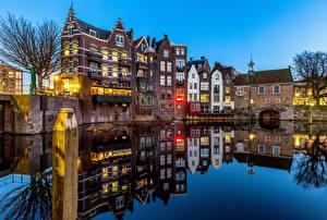 Papéis de parede Holanda Roterdão Casa Rios Reflexo Delfshaven Cidades imagens