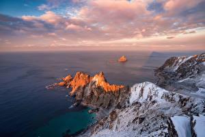 Hintergrundbilder Norwegen Küste Meer Lofoten Wolke