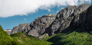 Photo Norway Mountain Cliff Gjesdal