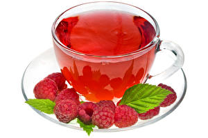 Wallpapers Raspberry Tea Cup Saucer White background